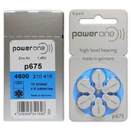 Battery Compatible withHearing Aids (P675)