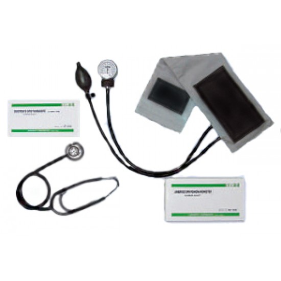 Analog Manual Blood Pressure Monitors, With Stethoscope  Model: SA-501