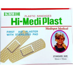 First Aid Plaster With Sterilized Pad 72*19 mm pkt/50