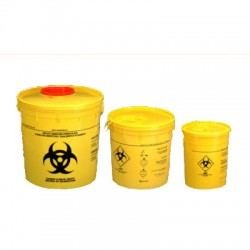 Medical Sharp container, Round yellow