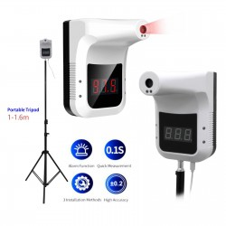 Non-Contact Digital K3 Thermometer,Wall-Mounted Infrared Forehead K3 Thermometer with LCD Display
