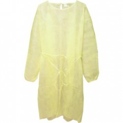 Isolation Gown Yellow Non Sterile Single Use only 20G