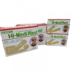 First Aid Plaster With Sterilized Pad 4 Sizes pkt/30